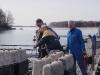 Y-bommarna på B-bryggan sjösätts